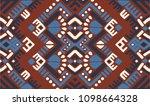 ikat geometric folklore... | Shutterstock .eps vector #1098664328