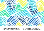 seamless colored geometric... | Shutterstock .eps vector #1098670022