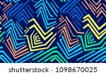 seamless colored geometric... | Shutterstock .eps vector #1098670025