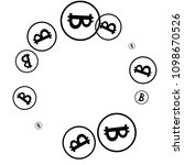 bitcoin icon abstract... | Shutterstock .eps vector #1098670526