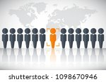 human resources poster  web... | Shutterstock .eps vector #1098670946