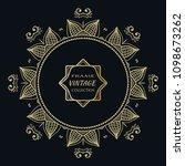 golden frame template with... | Shutterstock .eps vector #1098673262