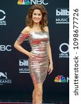 Small photo of Hilary Roberts attends the Red Carpet at the 2018 Billboards Music Awards at the MGM Grand Arena in Las Vegas, Nevada USA on May 20th 2018