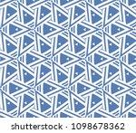 decorative seamless geometric... | Shutterstock .eps vector #1098678362