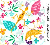 cute seamless pattern with... | Shutterstock .eps vector #1098680612