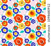 seamless vector pattern with... | Shutterstock .eps vector #1098680912