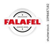 falafel vintage stamp sign... | Shutterstock .eps vector #1098687182