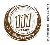111 years anniversary.... | Shutterstock .eps vector #1098687545
