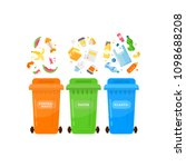 trash sorting.recycling garbage ... | Shutterstock .eps vector #1098688208