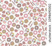 colorful and cute hand drawn... | Shutterstock .eps vector #1098690302