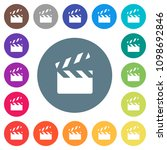 clapperboard flat white icons... | Shutterstock .eps vector #1098692846