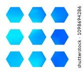 design hexagonal vector logo... | Shutterstock .eps vector #1098694286
