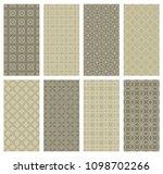 set of vertical seamless line... | Shutterstock .eps vector #1098702266