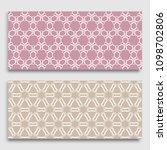 seamless horizontal borders... | Shutterstock .eps vector #1098702806