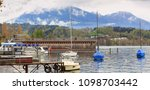 panoramic view of the lake... | Shutterstock . vector #1098703442