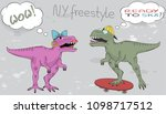 dinosaurs comic strip isolated... | Shutterstock .eps vector #1098717512