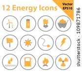 energy icons | Shutterstock .eps vector #109871786