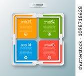 vector abstract 3d paper... | Shutterstock .eps vector #1098718628