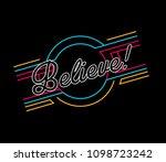 believe  beautiful greeting... | Shutterstock .eps vector #1098723242