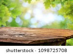 wooden table background | Shutterstock . vector #1098725708