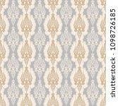 seamless repeating damask... | Shutterstock .eps vector #1098726185