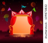 colorful  decorated circus tent ... | Shutterstock .eps vector #109873832