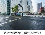 empty asphalt road front of... | Shutterstock . vector #1098739925