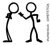 stick figure messages stubborn | Shutterstock .eps vector #1098757526