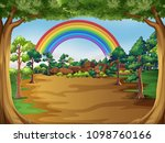 a beautiful forest landscape... | Shutterstock .eps vector #1098760166