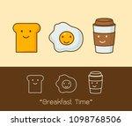 best friends. breakfast. good... | Shutterstock .eps vector #1098768506