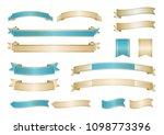 formal ribbon vectorset | Shutterstock .eps vector #1098773396