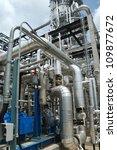 oil refinery installation | Shutterstock . vector #109877672