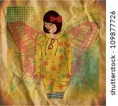 vector illustration of a pretty ... | Shutterstock .eps vector #109877726