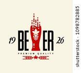 modern craft beer drink vector...   Shutterstock .eps vector #1098782885