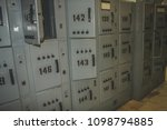 locker cabinets or lockers in a ... | Shutterstock . vector #1098794885