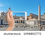 photographing vatican city on a ... | Shutterstock . vector #1098802772