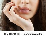 close up beauty portrait young... | Shutterstock . vector #1098812258