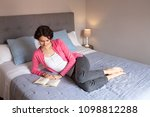 beautiful calm middle age woman ... | Shutterstock . vector #1098812288