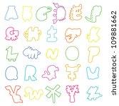 cartoon alphabet  animal model