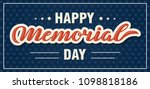 happy memorial day. national... | Shutterstock .eps vector #1098818186