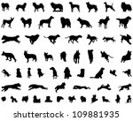 Stock vector dog silhouettes 109881935