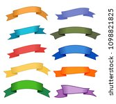 set of ten multicolor ribbons...   Shutterstock . vector #1098821825