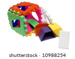 baby logical cube on the... | Shutterstock . vector #10988254
