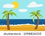 cartoon nature landscape with...   Shutterstock . vector #1098826535