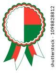 madagascar award ribbon vector... | Shutterstock .eps vector #1098828812