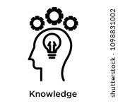 knowledge icon isolated on... | Shutterstock .eps vector #1098831002