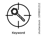 keyword icon isolated on white... | Shutterstock .eps vector #1098831212