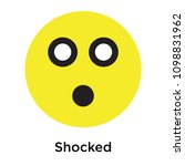 shocked icon isolated on white... | Shutterstock .eps vector #1098831962