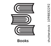 books icon isolated on white... | Shutterstock .eps vector #1098832292