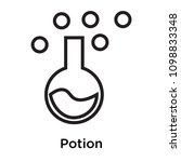 potion icon isolated on white... | Shutterstock .eps vector #1098833348